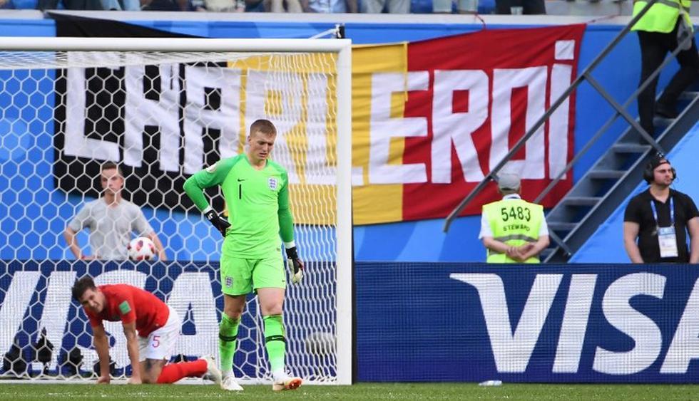 Inglaterra cayó 2-0 ante Bélgica. (AFP)
