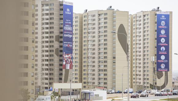 """Martín Vizcarra había anunciado en la semana la habilitación de las torres """"para la atención de la policía y el público en general con COVID-19″. (Foto: Cesar Zamalloa / GEC)"""