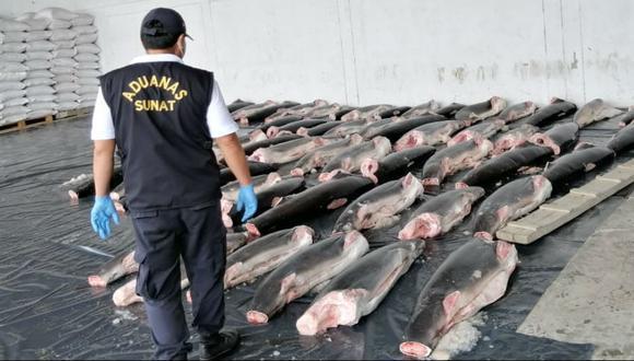 Tumbes: incautan once toneladas de carne de tiburón que iban a comercializarse en el país (Foto: SUNAT)