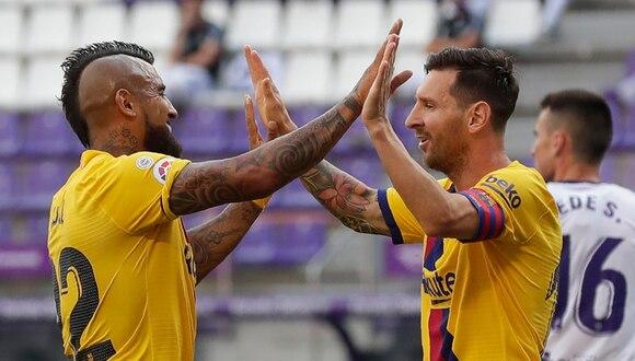 Lionel Messi asistió a Arturo Vidal para el 1-0 del Barcelona en campo del Real Valladolid