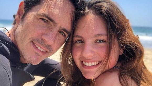 Mauricio Ochmann junto a su hija mayor Lorenza, de 16 años, uno de sus principales motivos para ser muy feliz (Foto: Mauricio Ochmann / Instagram)