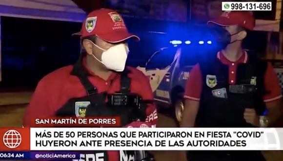 José Mata, gerente de seguridad ciudadana de la municipalidad, aseveró que la intervención se dio por las denuncias de los vecinos. Foto: captura de pantalla