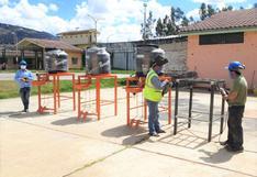 Internos del penal de Cajamarca elaboran lavatorios portátiles para prevenir contagios de COVID-19