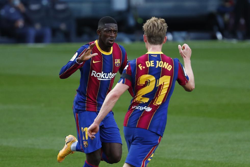 Ousmane Dembelé convirtió el 1-0 a favor del Barcelona