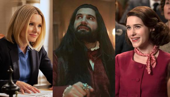 """""""The Good Place"""" , """"What We Do In The Shadows"""" y """"The Marvelous Mrs. Maisel""""  son algunas de las ocho series nominadas a Mejor Comedia en la edición número 72 de los Premios Emmy (Fotos: Netflix/ FX/ Prime Video)"""