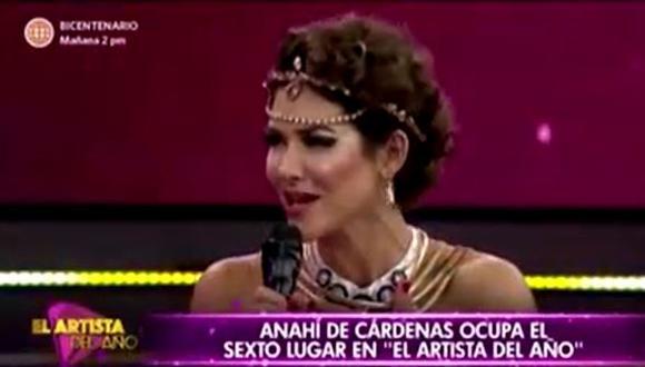 Anahí de Cárdenas y 'Chikiplum' fueron los primeros eliminados de la competencia. (Foto: captura de video)