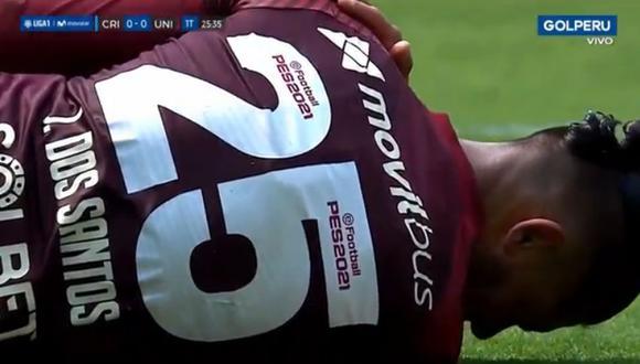 Jonathan Dos Santos salió lesionado y preocupa al equipo crema. (Fuente: Gol Perú)