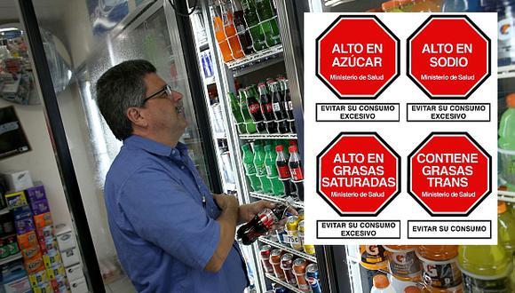 El Minsa estableció los lineamientos para el etiquetado de alimentos y bebidas que exceden los nuevos topes de uso de sodio, azúcar, grasas saturadas y grasas trans. (Foto referencial: AFP)