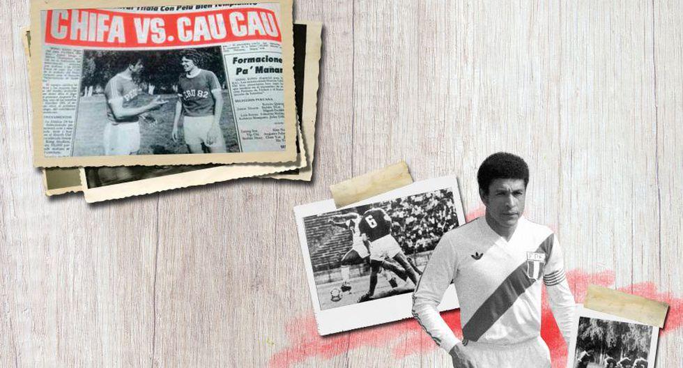 Héctor Chumpitaz recibió homenajes y le pidieron fotos y autógrafos. Nuestro capitán, incapaz de ocultar su emoción, firmó todo. En estas mismas páginas, recortes de la cobertura de La Crónica, con sustancioso titular.