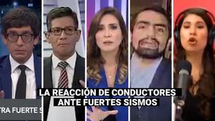 La reacción de distintos conductores de televisión ante fuertes sismos ocurridos en Perú