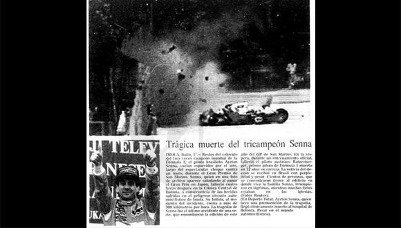 Así ocurrió: En 1994 muere el piloto de Fórmula 1 Ayrton Senna