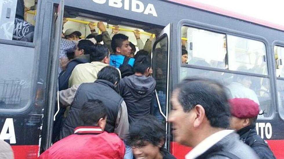 Paro de transportistas: escasez de buses se sintió parcialmente - 1