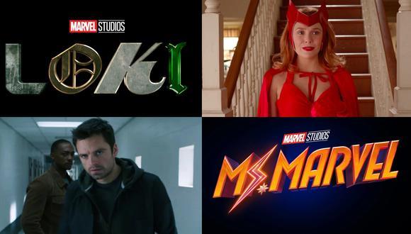"""Imágenes oficiales de """"Loki"""", """"Wandavision"""", """"The Falcon and the Winter Soldier"""" y """"Ms. Marvel""""; próximas series de Marvel Studios que llegarán a Disney+. Fotos: Marvel Studios."""