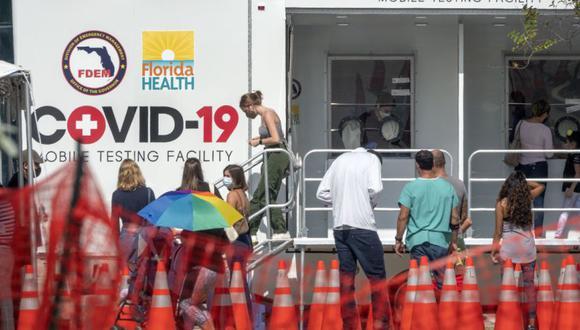 Centro ambulatorio para descartar el coronavirus en Miami Beach (EFE/EPA/CRISTOBAL HERRERA-ULASHKEVICH)