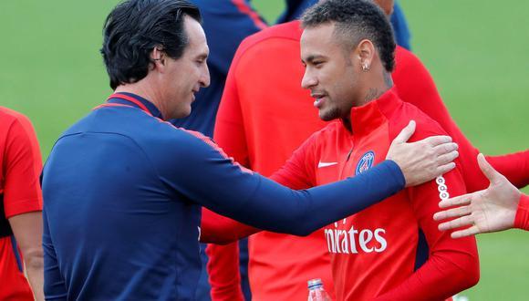 """Unai Emery ha señalado que Neymar no se adaptó al 100% al PSG y le dedica mucho tiempo a los spots publicitarios. """"Todavía no está instalado"""", expresó. (Foto: EFE)"""