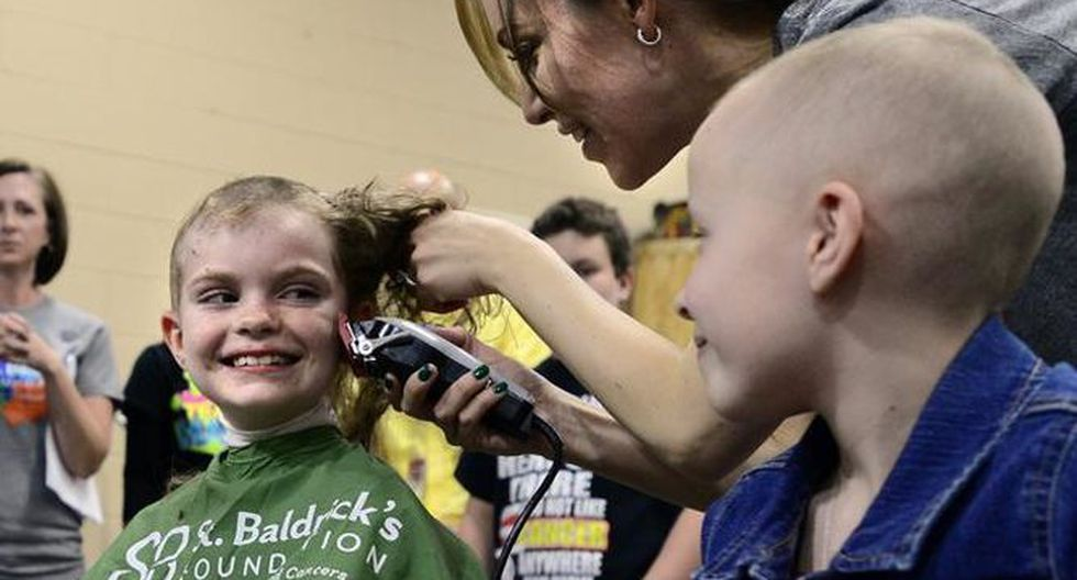 Los niños demostraron una amistad única y Olly también demostró ser el mejor amigo de Tommy-Lee en este momento tan difícil. (Fb festival 'Be Bold, Be Brave, Go Bald')