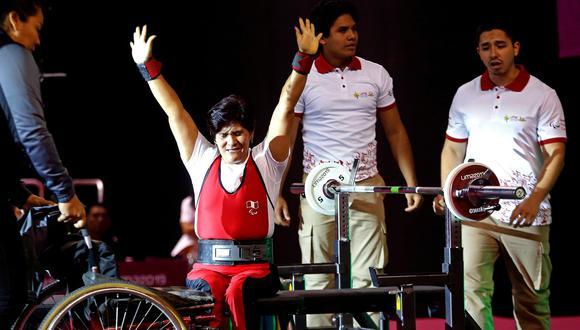 """Noemí Vásquez, medalla de bronce en parapowerlifting, en Lima 2019, hoy es imagen de la campaña """"Iguales en la vida, iguales en el deporte"""". (Foto: Lima 2019)"""