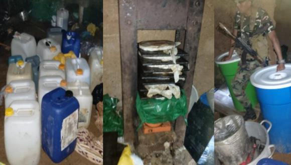 Puno: PNP se enfrenta a balazos con desconocidos y destruye laboratorio de droga