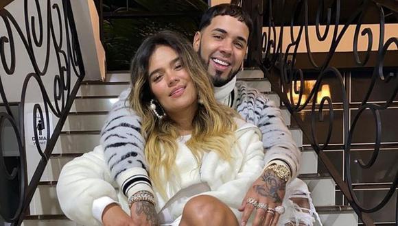 """Karol G y Anuel AA iniciaron su romance en el 2018 tras grabar su canción """"Culpables"""" . (Foto: Instagram / @anuel / @karolg)."""