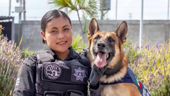 La Policía Estatal de Querétaro despidió entre honores a Toretto. (Foto: Acción Policial Querétaro)