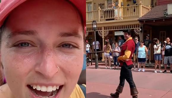 Esta mujer jamás pensó que un actor vestido de un personaje de Disney le haría una broma tan cruel y graciosa (Foto: TikTok)