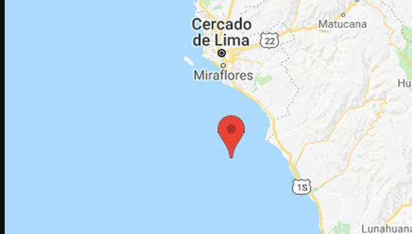 Se registra sismo 3,7 Richter en región de Chilca. El movimiento fue percibido por la población. (Foto: captura IGP)