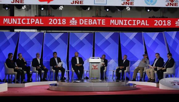 Esta es la segunda jornada de los debates organizados por el JNE para la Alcaldía de Lima. (Foto: Alonso Chero/ El Comercio)