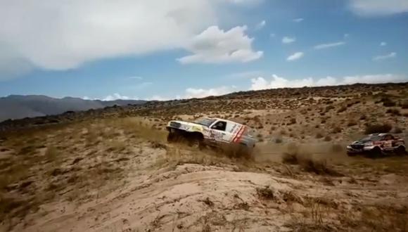 Fernanda Kanno esta a dos etapas de acabar el Dakar. (Video: Facebook/Lucho Mendoza)