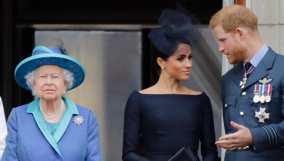 Enrique y Meghan de Sussex niegan el informe de que no le consultaron a la reina sobre llamar a su hija Lilibet. (Foto: AFP)