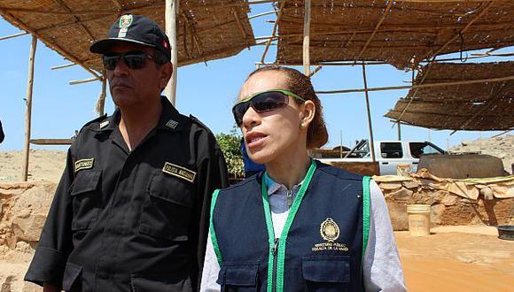 Áncash: dan seguridad a fiscales que combaten minería ilegal