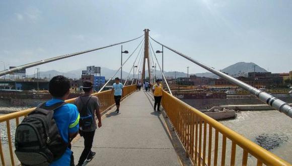 Municipalidad de Lima: 'Puente Rayito de Sol no presenta daños'