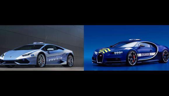 Hasta Lamborghinis: Los súperautos de los patrulleros europeos
