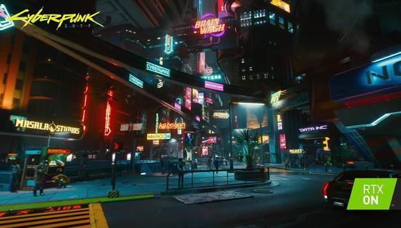 El videojuego Cyberpunk 2077 cuenta con soporte para el DLSS. (Imagen: Nvidia)