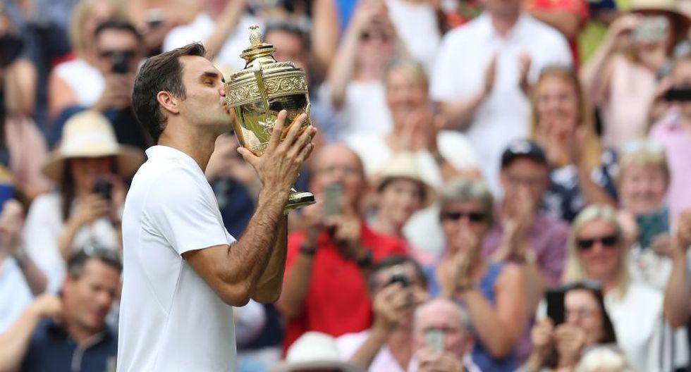 Federer y su festejo particular en la cancha. (Foto: AFP)