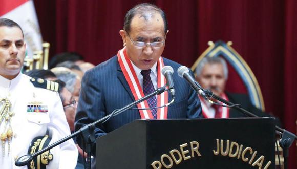 Presidente del JNE, Víctor Ticona, participa en una sesión virtual de la Comisión de Constitución (Foto: Andina)