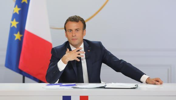 """Emmanuel Macron abogó por una reforma constitucional que permita una descentralización """"diferenciada"""". (Foto: AFP)"""