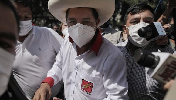 Pedro Castillo, candidato presidencial de Perú Libre, indicó que por el momento no va a presentar a los integrantes de su equipo técnico | Foto: El Comercio