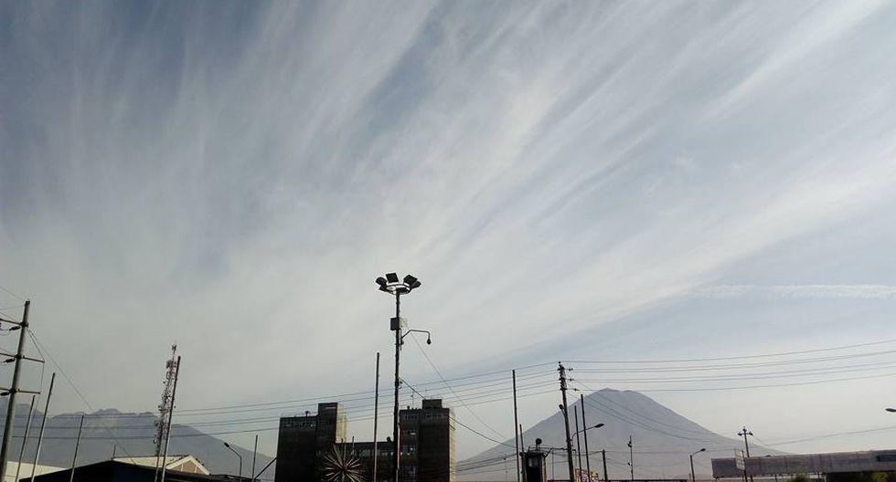 Ceniza del volcán Sabancaya llega a la ciudad de Arequipa