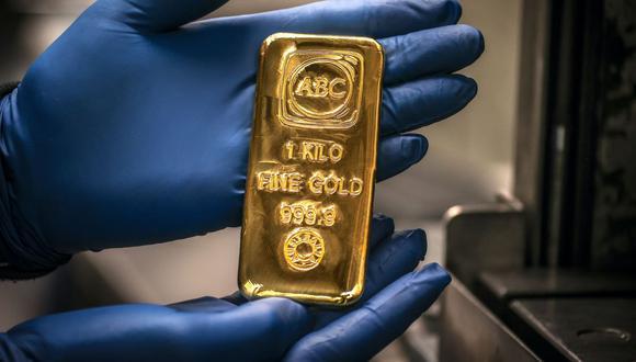 Los futuros del oro en Estados Unidos subían 0,1% a US$1.898,40 la onza. (Foto: AFP)