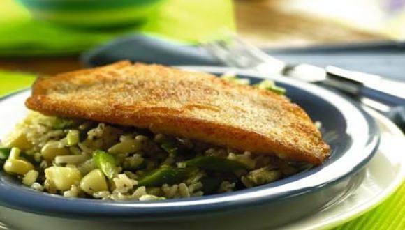 Salad de arroz con pescado