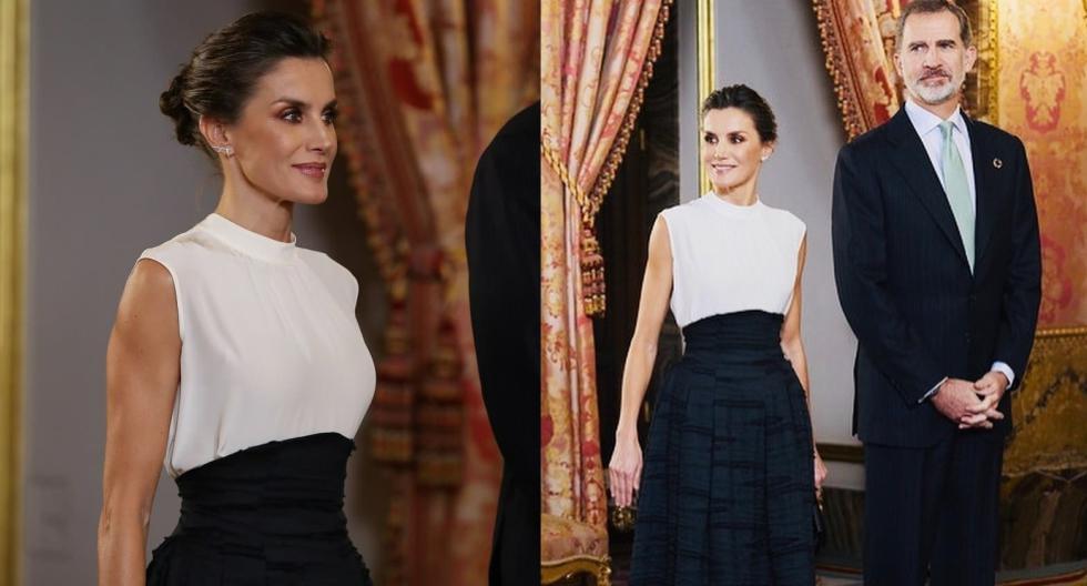 La reina Letizia asistió a la Cumbre del Clima con una falda reciclada de H&M. Recorre la galería para enterarte de más detalles. (Foto: @lacoctelera_mag)