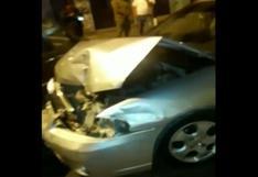 Chorrillos: mujer choca auto estacionado y taxistas evitan que fugue