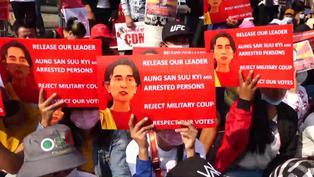 Dos muertos y decenas de heridos en represión policial de manifestaciones en Birmania