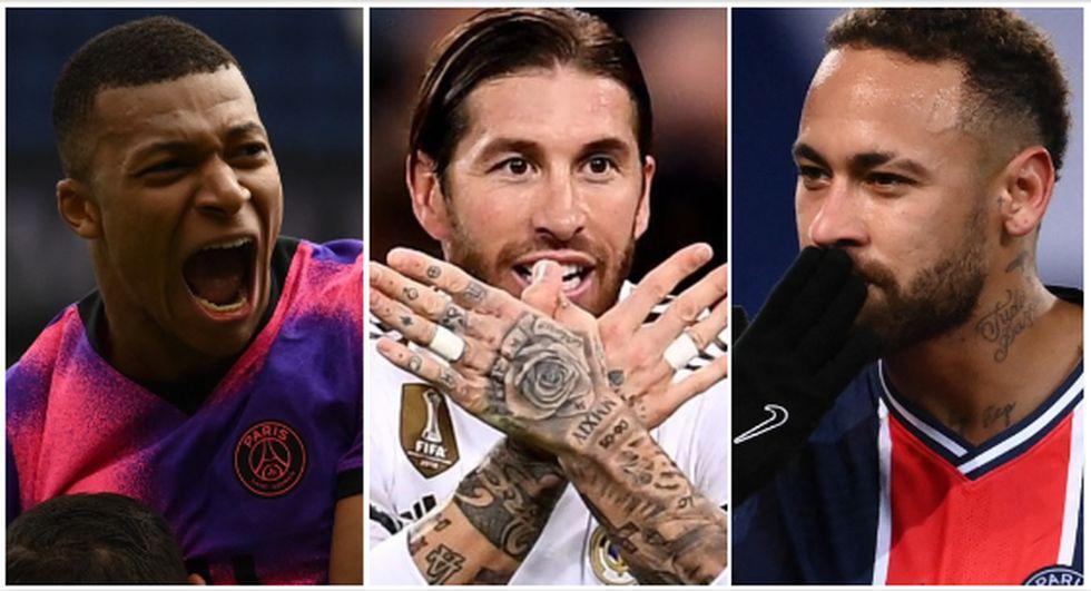 El equipo que formará PSG con el fichaje de Sergio Ramos. (Foto: AFP)