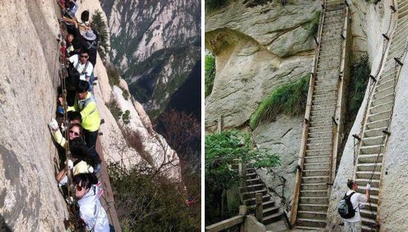 China: El escalofriante sendero de la montaña Hua Shan