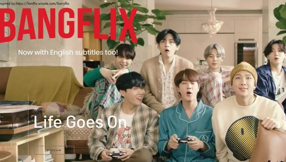 Conoce la página web donde podrás ver todo el contenido de la boyband coreana, BTS, de manera gratuita. (Foto: Captura Bangflix)