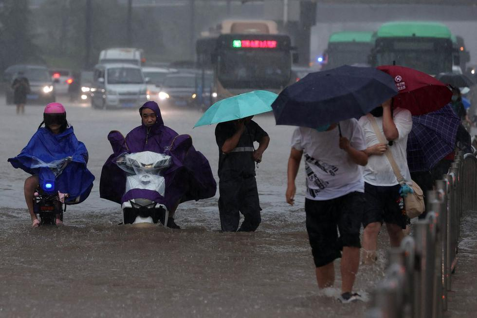 Rainfall in the region has been very intense since data began to be recorded 60 years ago.  (Photo: STR / AFP).