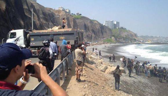 Costa Verde: Emape retirará rocas de playa La Pampilla