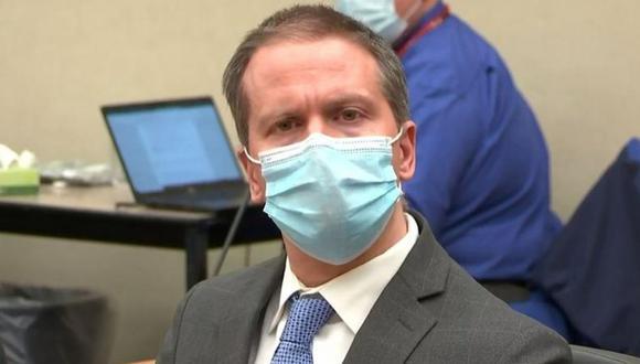 Derek Chauvin al escuchar el veredicto en su contra por el asesinato de George Floyd. (Foto: Reuters).