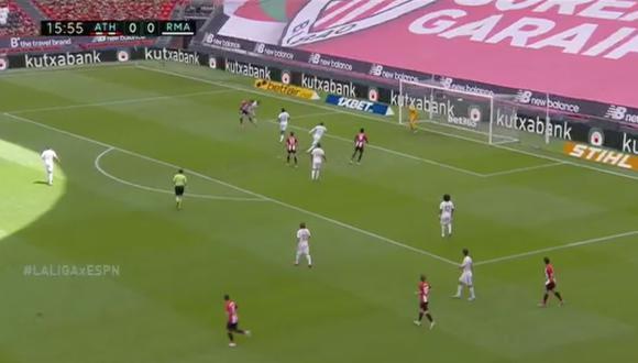 Real Madrid vs. Athletic de Bilbao: Thibaut Courtois evitó el 1-0 con una gran parada frente a Raúl García